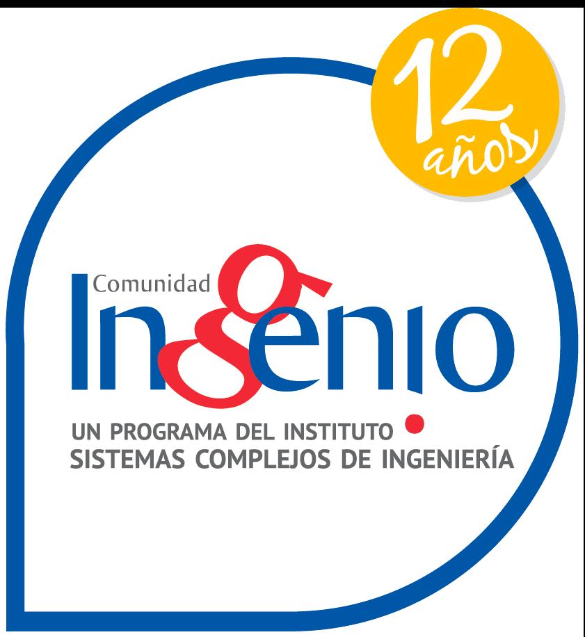 Comunidad InGenio - Un Programa del Instituto Sistemas Complejos de Ingeniería